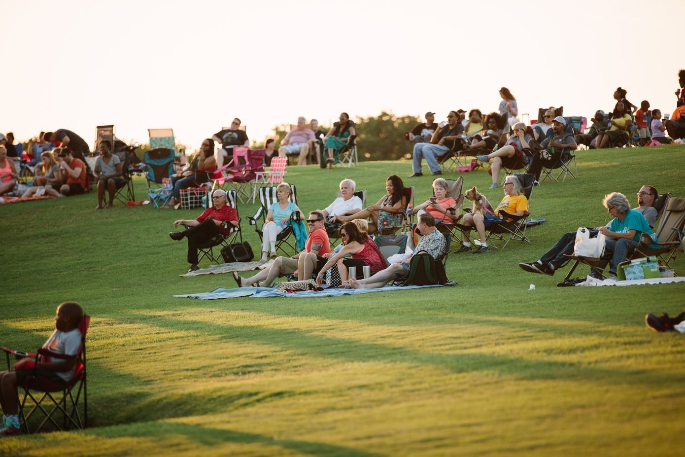 People Sitting in Camping Chairs at Valley Ridge Park