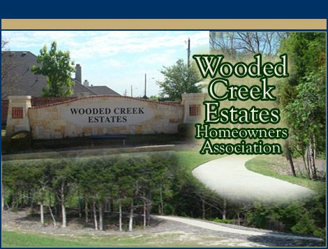 Wooded Creek Entry Sign
