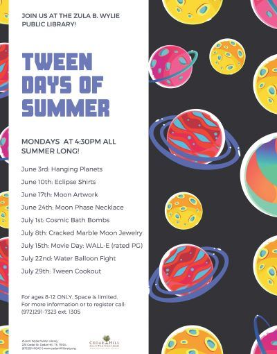 Tween Days of Summer Flyer