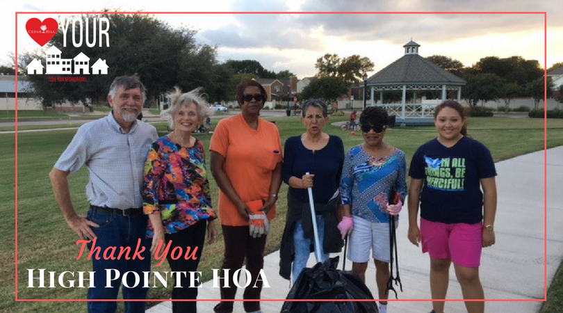 Thank You High Pointe HOA