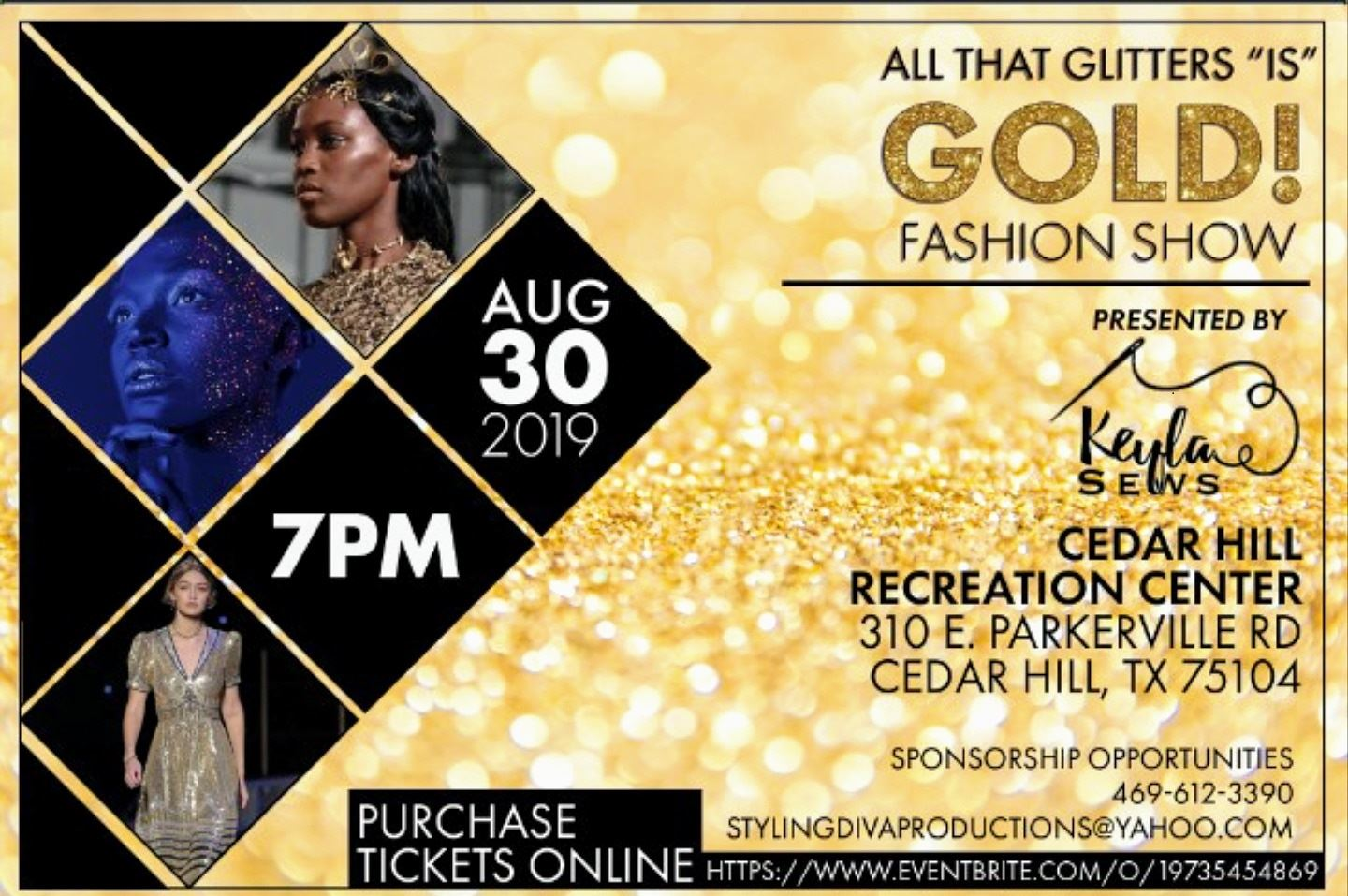 All That Glitters Is Gold Fashion Show